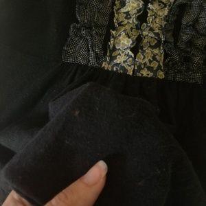 Deletta Tops - Anthropologie Deletta Ruffle Tuxedo Slub Knit Top